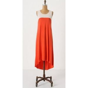 Aiko High low colorblock dress